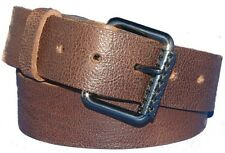 Hand Made 38mm Russet Brown Belt & Buckle Real Leather Made England S M L XL XXL