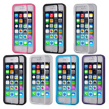 TPU Wrap Up Flip Case Cover w/ Built in TOUCH Screen Protector for iPhone 5 5S