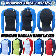 Mowave compression raglan athletic baselayer sports under inner shirts rashguard
