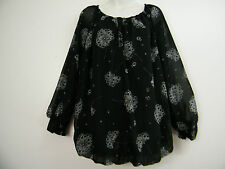 FAB BLACK AND GREY LOOSE FIT TOP , SIZE 16 18 20 22 24 26 28 30 32