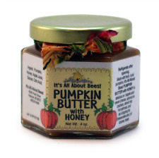 Natural Apple or Pumpkin Butter Sweetened with Honey 4 oz