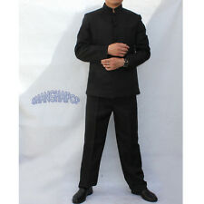 Mens Vintage Stand Collar Chinese Tunic Kung Fu Suit Jacket Martial Art Uniform