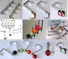 NEW 10 And 2,4,5,6 HOOK CHROME OVER DOOR COAT CLOTHES HANGER & WALL HOOK HANGER