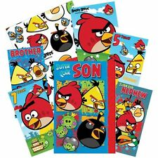 Angry Birds Card Cards Birthday Age Wrapping Male Relations