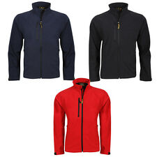 NEW MENS SOFTSHELL LEISURE WORKWEAR JACKET-SIZES XS-4XL BLACK, NAVY, RED, 8940M