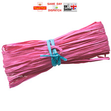 Raffia Paper Gifts Ribbon Decoratin Scrapbooks PINK FUHSIA 2m 10m 20m 100m CHEAP