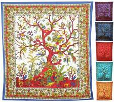 TREE OF LIFE WALL HANGING tapestry fabric vintage indian throws hippie large big
