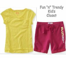 NWT OUTFIT SET LOT KIDS PS AEROPOSTALE GIRLS SIZE 10 & 12 SHORTS TEE SHIRT TOP