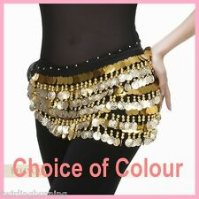 Belly Dance Five Layers Coin Belt Hip Scarf Wrap Skirt Dancing Costume AB17