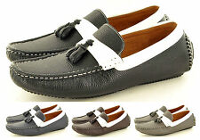 New Mens Casual Loafers Moccasins Slip on Shoes with Tassles Avail. UK Size 6-11