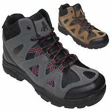 NEW MENS HIKING BOOTS WALKING ANKLE HI TOPS TRAIL TREKKING TRAINERS SHOES SIZES