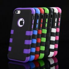 COLORFUL IPHONE 5 S 5C HEAVY DUTY HARD CASE HYBRID RUGGED COVER SCREEN PROTECTOR