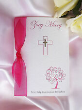 PERSONALISED HANDMADE CHRISTENING / BAPTISM / HOLY COMMUNION INVITATIONS