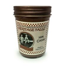 Heritage Falls Chocolate,Hot Cocoa,Marshmallow Scented Half Pint Jar/Soy Candles