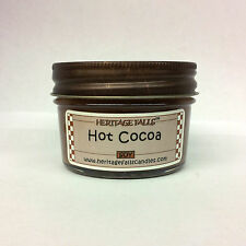 Heritage Falls Chocolate,Hot Cocoa or Marshmallow Scented Mini Jar Soy Candles