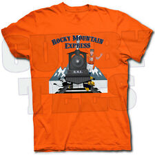 ROCKY MOUNTAIN EXPRESS DENVER BRONCOS T SHIRT - MANNING'S OFFENSE ROLLS ON