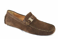 Mens Clarks Shoes Clutch Engine Suede Driving Moc 63656 Brown