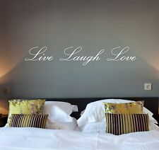 Wall Quote Art Sticker LIVE LAUGH LOVE Quote, Vinyl Decal, Mural
