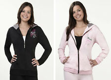 Lillian Rose Pink or Black Bride Hooded Jacket Bridal Shower Gift S M L XL