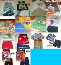 *NEW BOYS 2PC THOMAS TRAIN ELMO MICKEY SESAME SUMMER OUTFIT SET 3/6M 12M 18M 24M