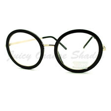 80's Fashion Super Oversized Round Circle Clear Lens Glasses