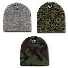 RapDom Military Camouflage Beanies Knit Watch GI Jacquard Warm Winter Caps Hats