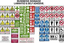 HEALTH SAFETY SIGNS FIRE HYGIENE WARNING CAUTION SMOKING KITCHENS FLATS SHOPS