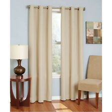 SOLID GROMMET FAUX  SILK WINDOW CURTAIN PANEL DRAPE 63 84 95 108 MANY COLOR SIZE