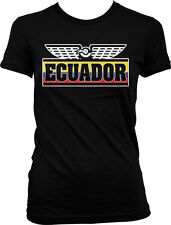 Made in Ecuador Flag Shield Olympics Beisbol South America Juniors Girls T-shirt