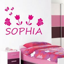 PERSONALISED NAME wall sticker bedroom girls boys family stickers decal vinyl