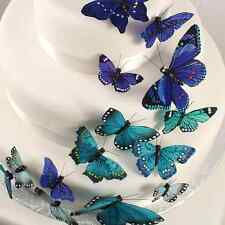 Beautiful Butterfly Choice of Colors Wedding Cake Decoration Set Kit