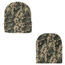 1 Dozen Grey Pixel Camo Camouflage Winter Beanie Beanies Hats Caps Wholesale Lot