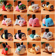 Super cute Plush soft Animal Toy  mobile phone stand holder Seat *Select Color*