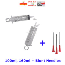 10x 20ml Syringes + 10x Needles 12 Sizes, STERILE BLUE INK FAST DISPATCH CHEAP