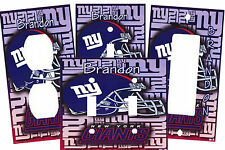 PERSONALIZED NEW YORK GIANTS FOOTBALL LIGHT SWITCH PLATE COVER