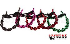 DNA Braid Bow Paracord Wrist Sling Strap Leather Yoke over 40 colors  Archery