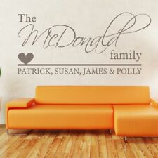 PERSONALISED CUSTOM FAMILY NAME wall art quote decal personalized vinyl sticker