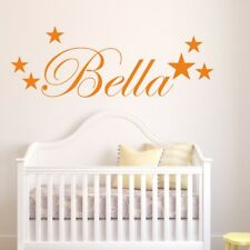 PERSONALISED STAR wall art sticker kids bedroom girl boy stickers decal vinyl