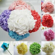 SHO 10pcs Bridal Bouquet Faux Flower Wedding Bridesmaid Decoration 9 Color W0005