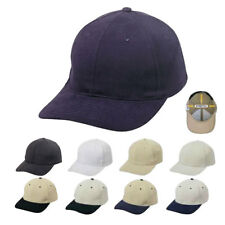 FLEX Brushed Cotton Fitted 6 Panel Low Crown Baseball Caps Cap Hats Hat