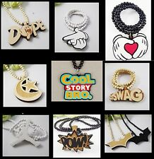 AWESOME HIP HOP WOOD CHAIN COLLECTION   PENDANT NECKLACE BEADS JEWELLERY