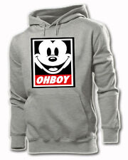 OHBOY MICKEY MOUSE DISOBEY OBEY SWEAT HOODIE S-XXL UNISEX  OFWG DOPE OMG YMCMB