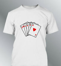 Tee shirt personnalise Poker M L XL XXL homme col rond