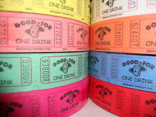 GOOD FOR ONE DRINK SINGLE ROLL TICKETS (2000 TICKETS PER ROLL)