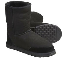 NEW AUSSIE DOGS STYLER SHORT WOMEN'S WINTER SUEDE PULL-ON BOOTS SIZE 8 BLACK
