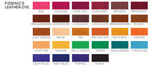 Fiebing Leather Dye 4oz. bottle - 28 colors to choose from - BUY 10 GET ONE FREE
