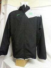 Mens Nike T90 Woven Football Running Training Jacket Black Grey Green  size XL