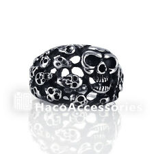 High Quality Men's 316L Stainless Steel Skull heads Ring mssr37