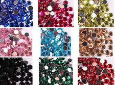 1000Pcs 12Colors Half-round Flatback Acrylic Flatback Beads 4.5.8mm