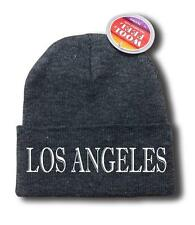"FOR MEN WOMEN ""LOS ANGELES"" FUNNY HOP Snowboard Ski Long Beanie HAT ONE SIZE"